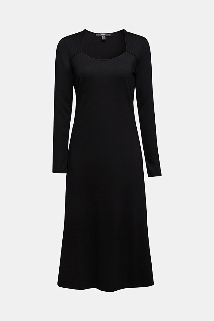 With LENZING™ ECOVERO™: Jersey midi dress, BLACK, detail image number 6
