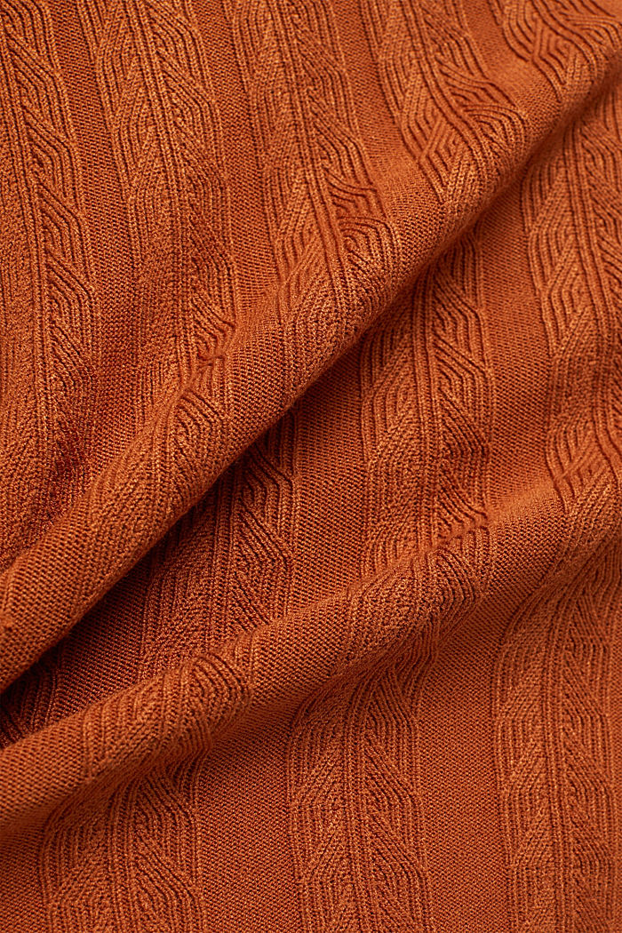 Knit dress with LENZING™ ECOVERO™, RUST BROWN, detail image number 4