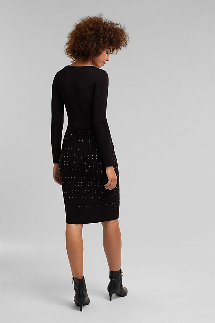 Knit dress with LENZING™ ECOVERO™, BLACK, detail image number 2