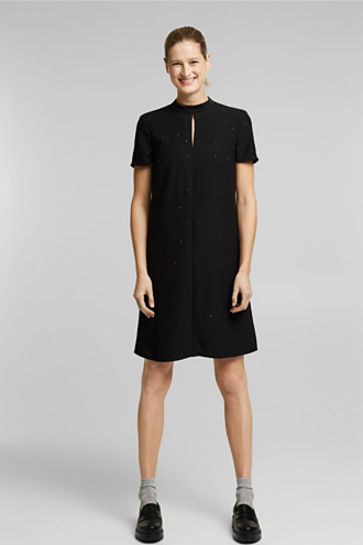 Sheath dress with rhinestones