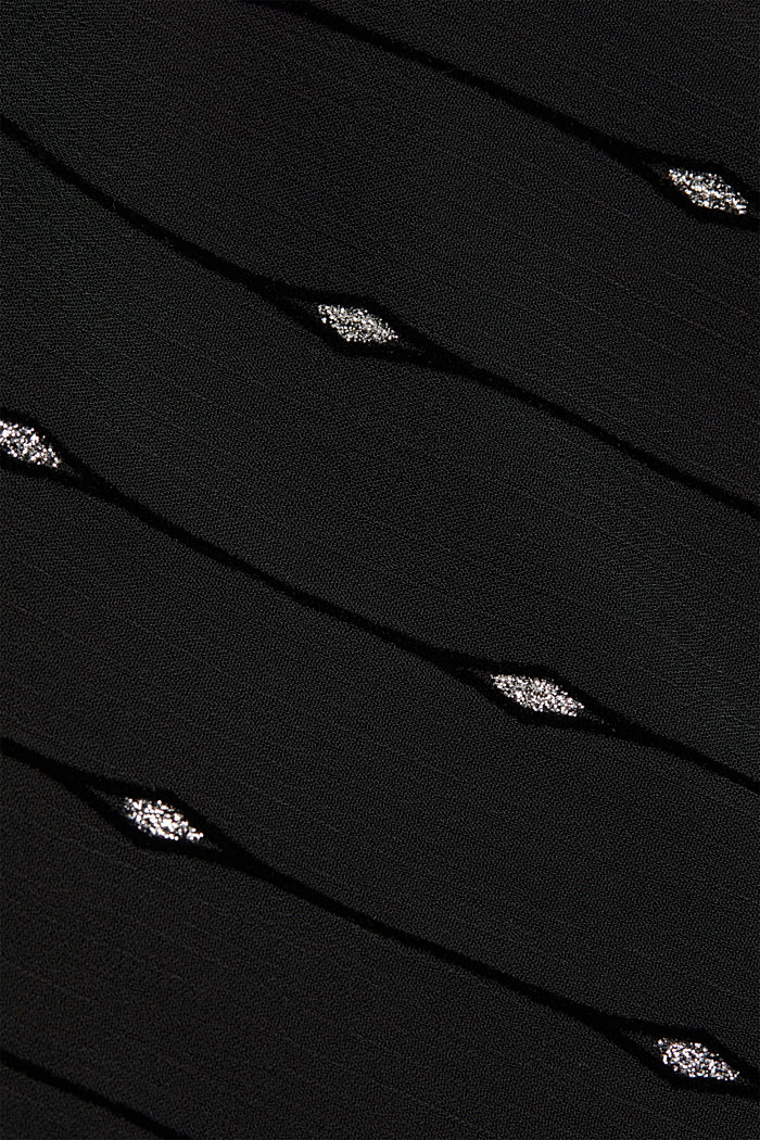 Embroidered chiffon maxi dress, BLACK, detail image number 4