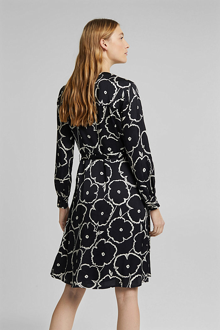 Shirt dress made of LENZING™ ECOVERO™, BLACK, detail image number 2