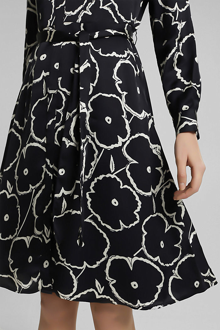 Shirt dress made of LENZING™ ECOVERO™, BLACK, detail image number 3