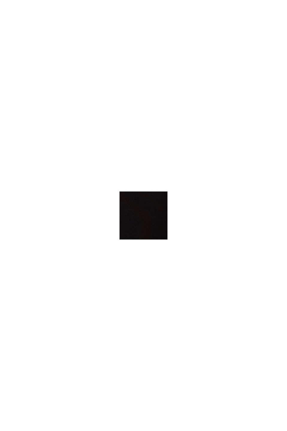 Jerseykjole med broderi på taftskørtet, BLACK, swatch