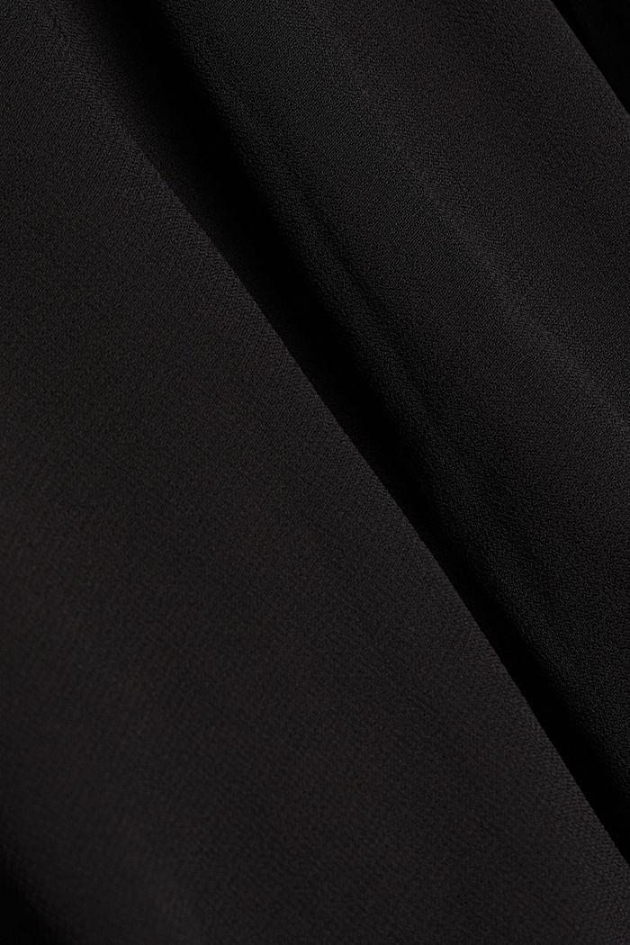 Recycled: Midi dress in crêpe chiffon, BLACK, detail image number 4