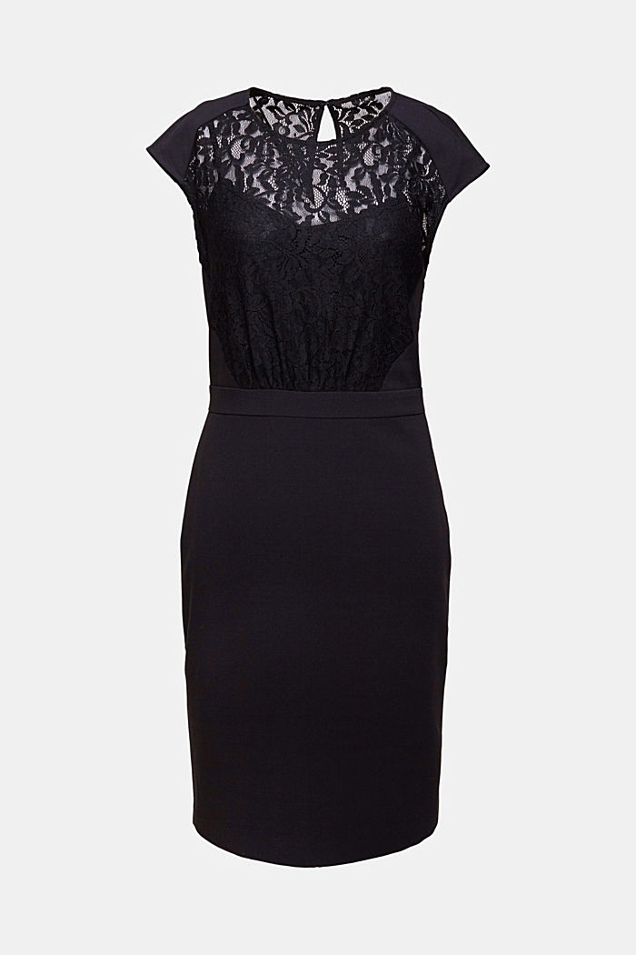 Recycled: dress with lace top