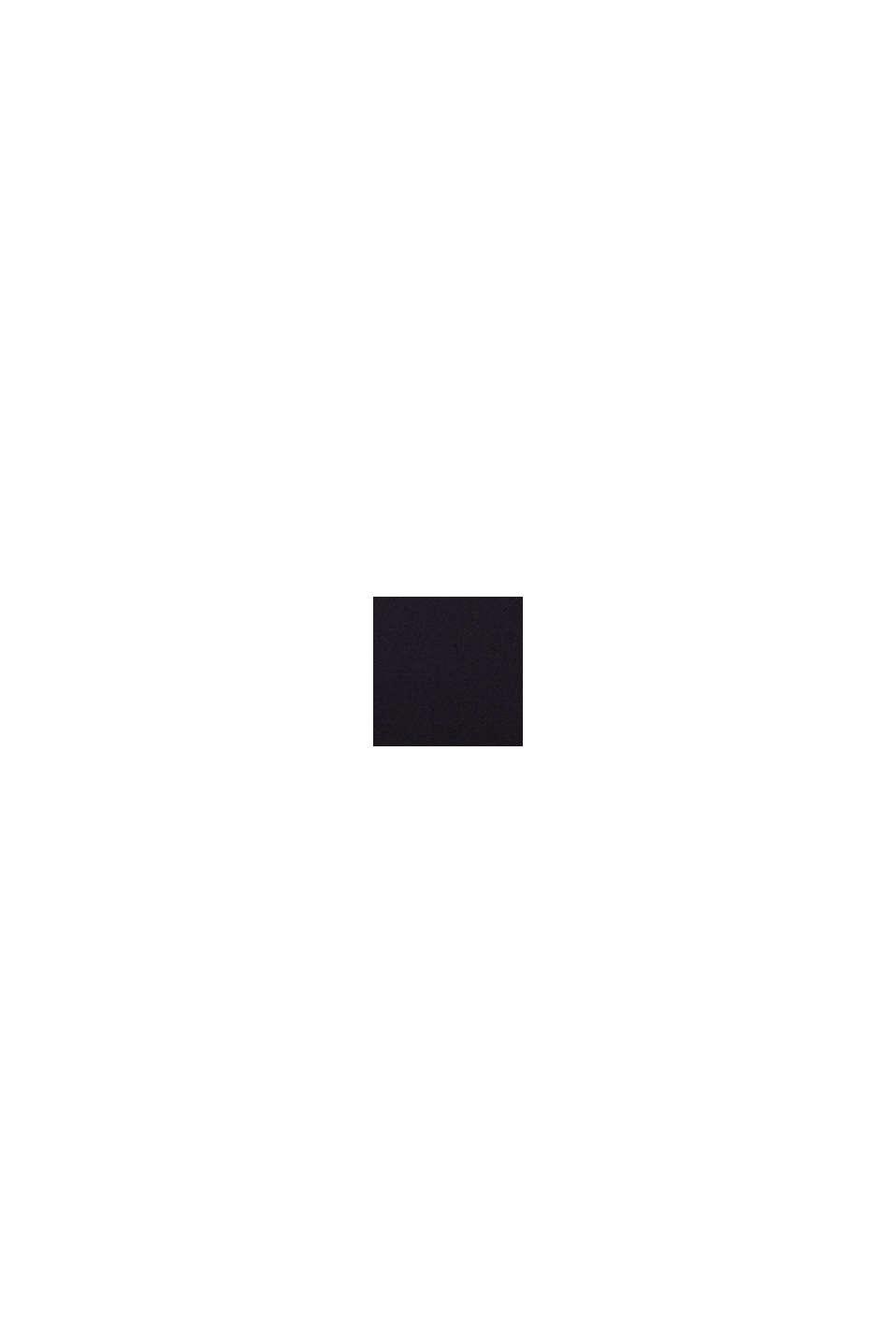 Recycelt: Kleid mit Spitzenoberteil, BLACK, swatch
