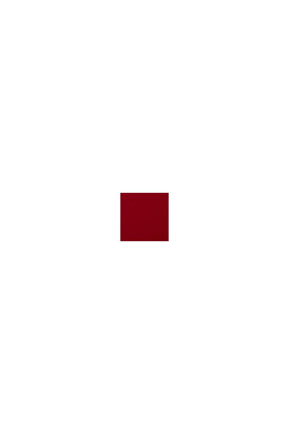 Recycelt: Kleid mit Spitzenoberteil, DARK RED, swatch