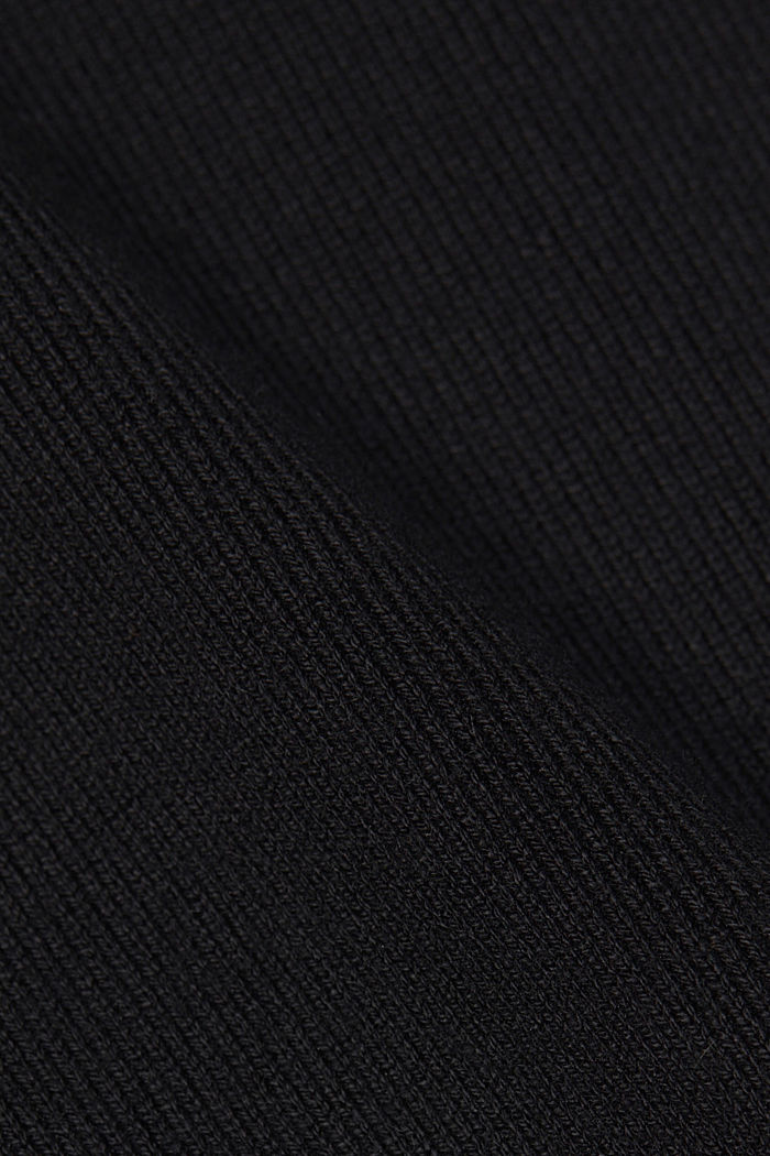 Strick-Kleid mit LENZING™ ECOVERO™, BLACK, detail image number 4
