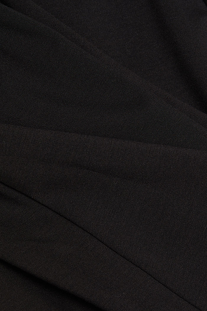 Jersey dress with chiffon sleeves, BLACK, detail image number 4