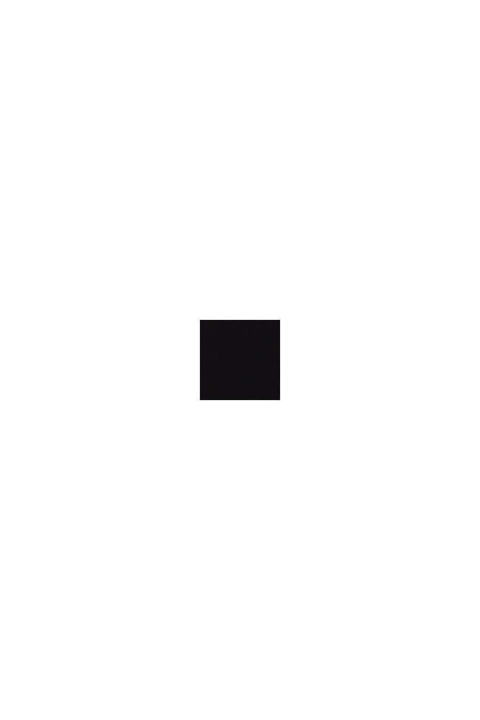 Crêpe top met kant, LENZING™ ECOVERO™, BLACK, swatch