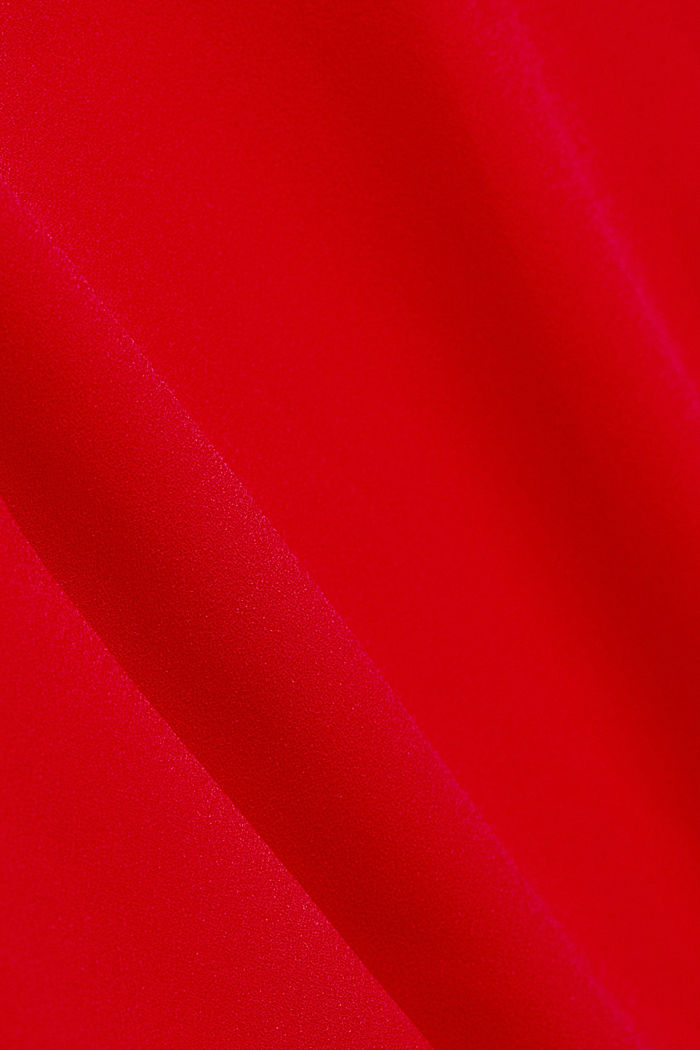 Recycled: crêpe tunic blouse, RED, detail image number 4