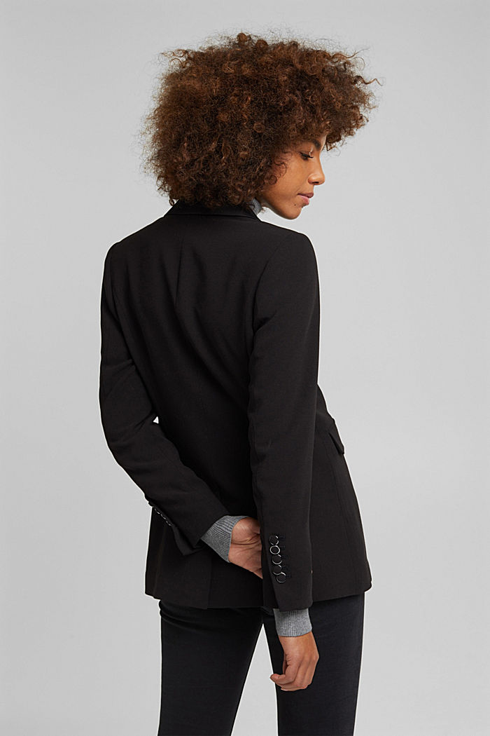 Blazer with shoulder pads, BLACK, detail image number 3