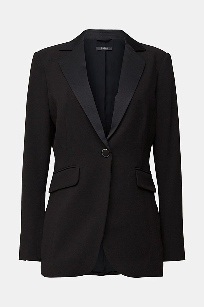 Blazer with shoulder pads