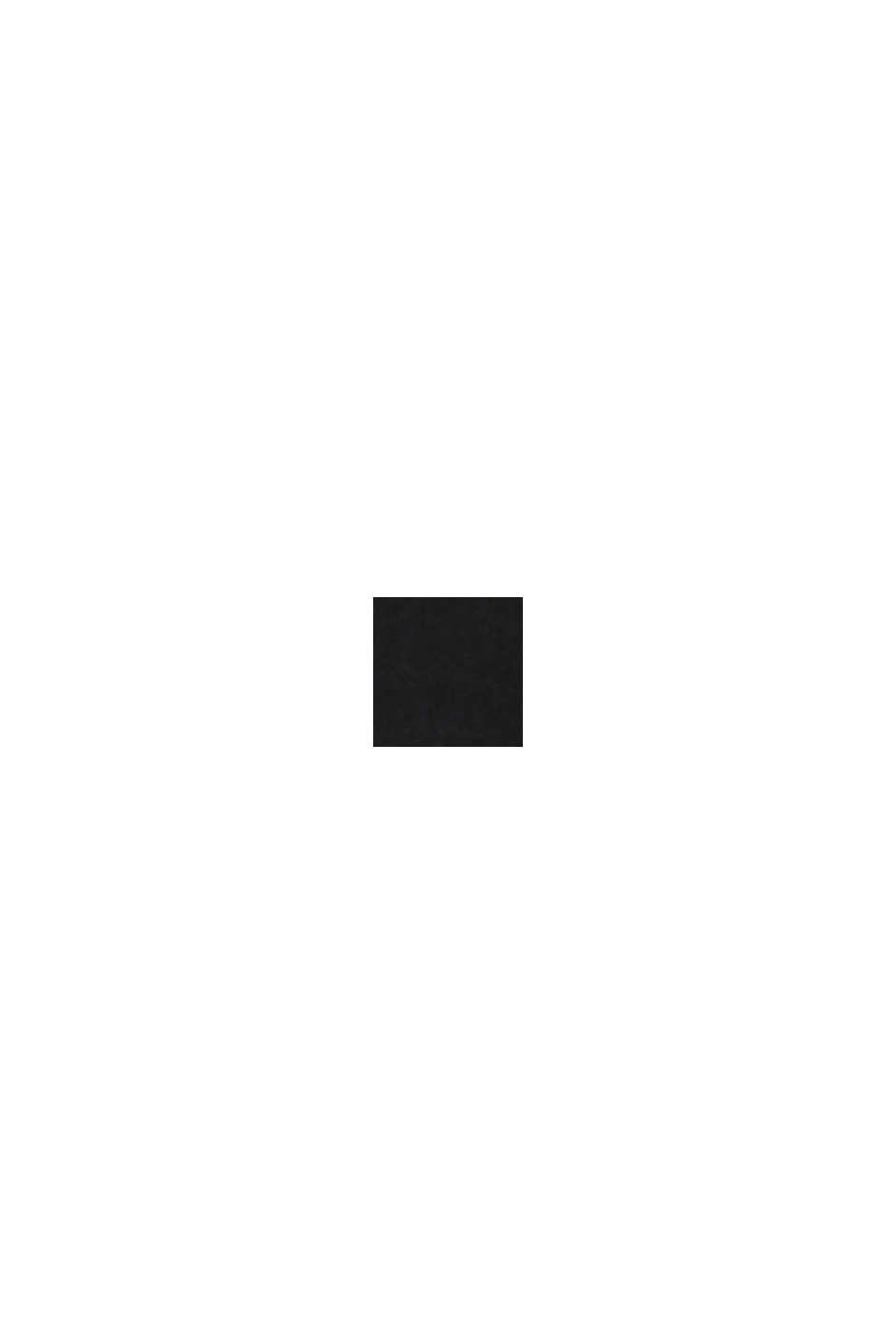 Genanvendte materialer: bolerojakke med satintittekant, BLACK, swatch