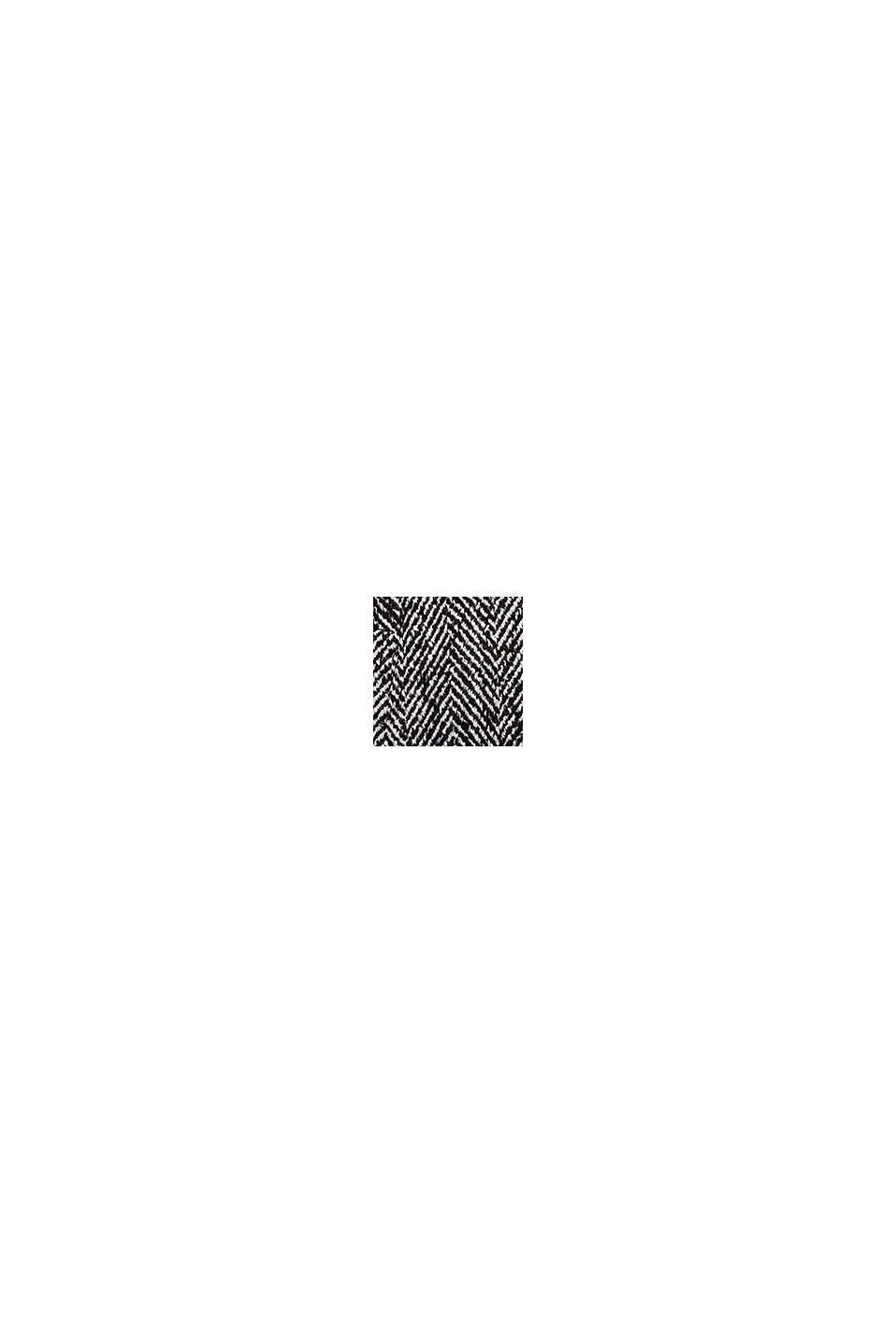 En laine mélangée: le manteau animé de chevrons, BLACK, swatch