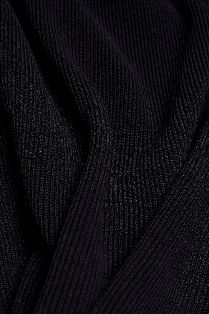 Feminine jumper made of LENZING™ ECOVERO™, BLACK, detail image number 4