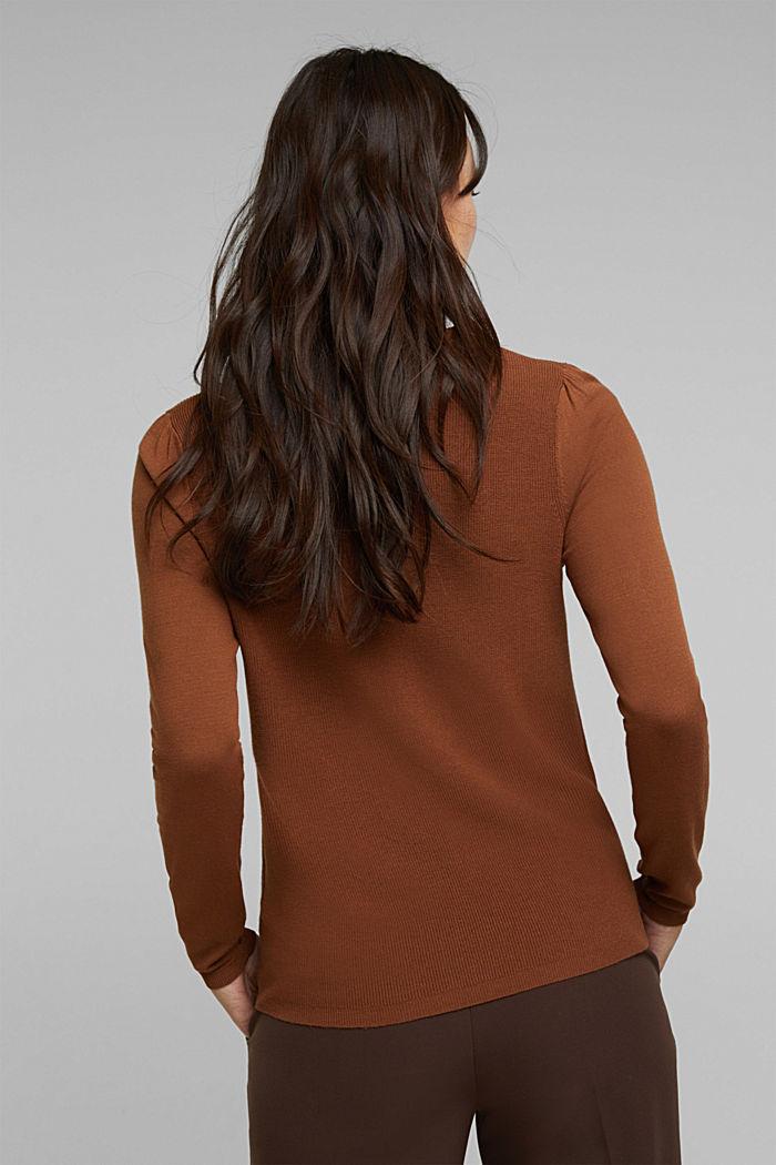 Feminine jumper made of LENZING™ ECOVERO™, TOFFEE, detail image number 3