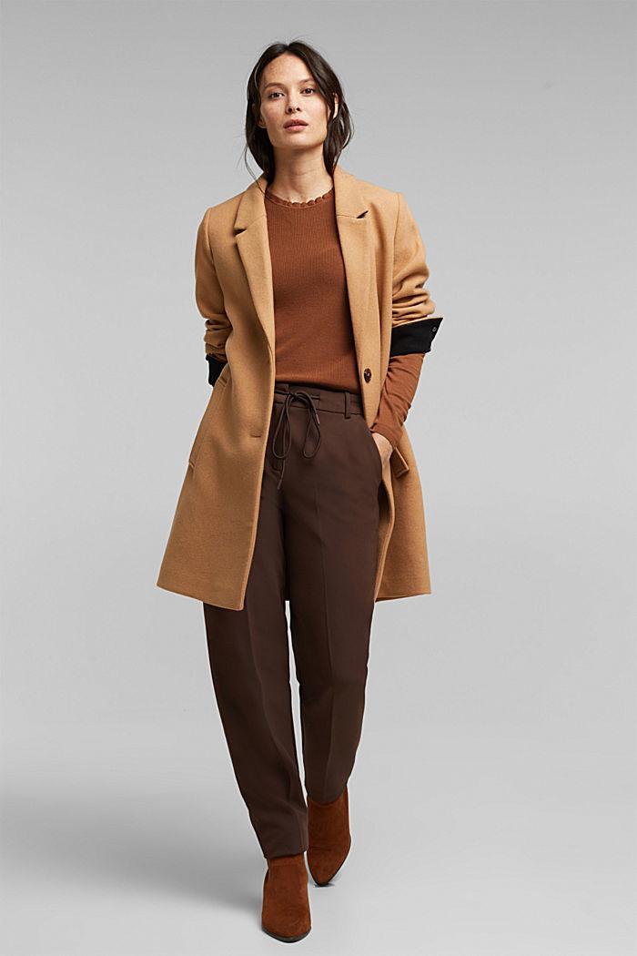 Feminine jumper made of LENZING™ ECOVERO™, TOFFEE, detail image number 1