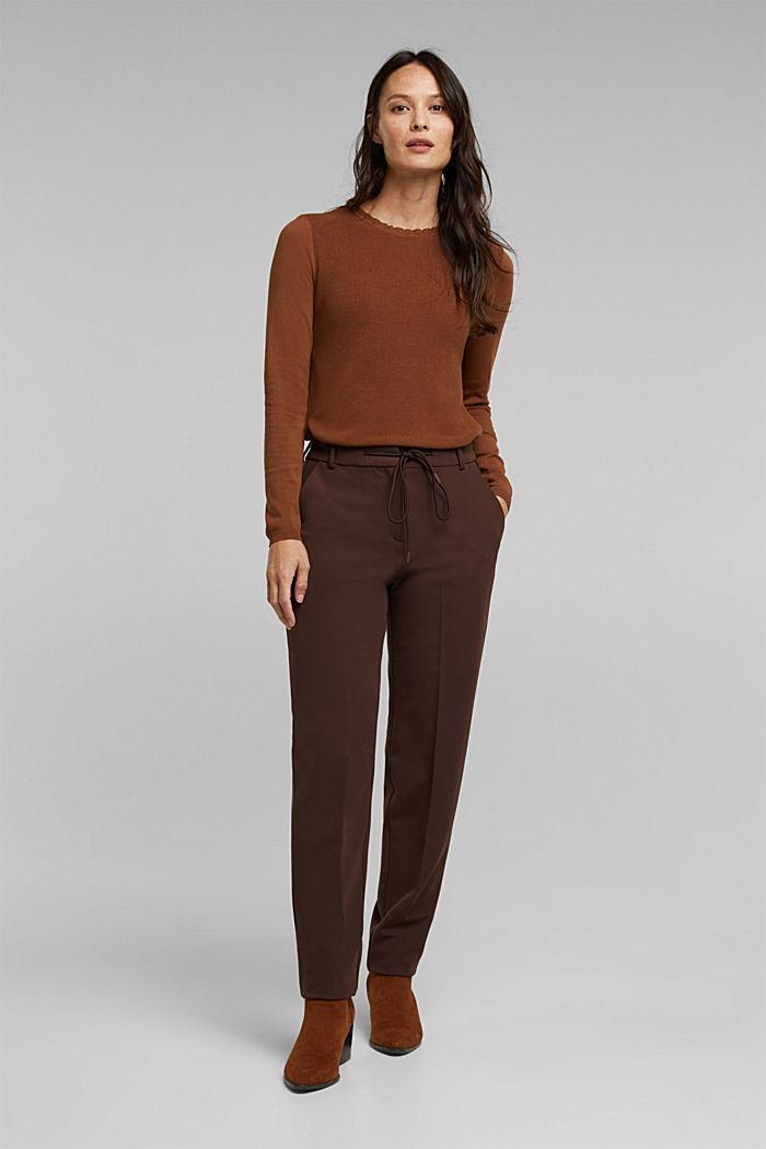 Feminine jumper made of LENZING™ ECOVERO™, TOFFEE, detail image number 6