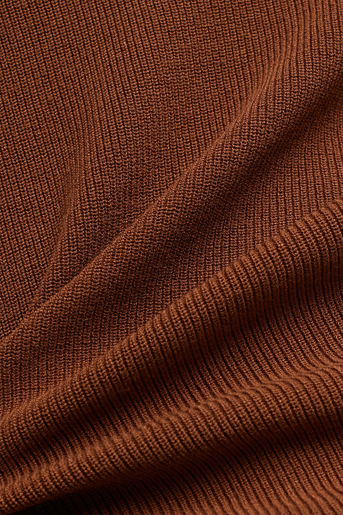 Feminine jumper made of LENZING™ ECOVERO™, TOFFEE, detail image number 4