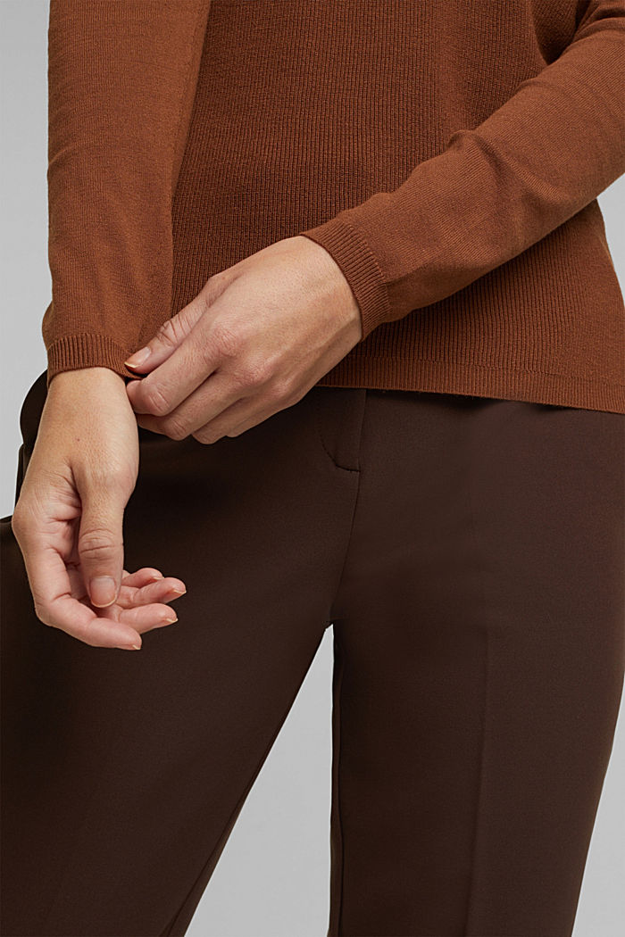 Feminine jumper made of LENZING™ ECOVERO™, TOFFEE, detail image number 5