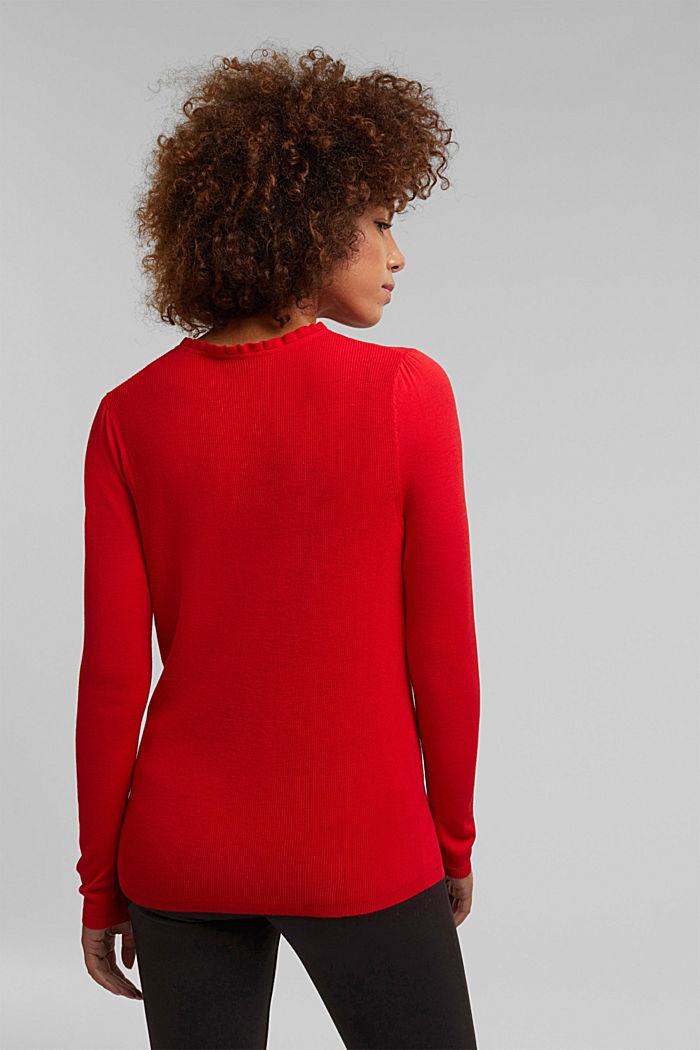 Feminine jumper made of LENZING™ ECOVERO™, RED, detail image number 3