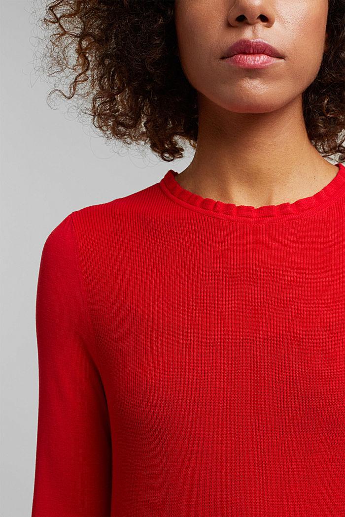 Feminine jumper made of LENZING™ ECOVERO™, RED, detail image number 2