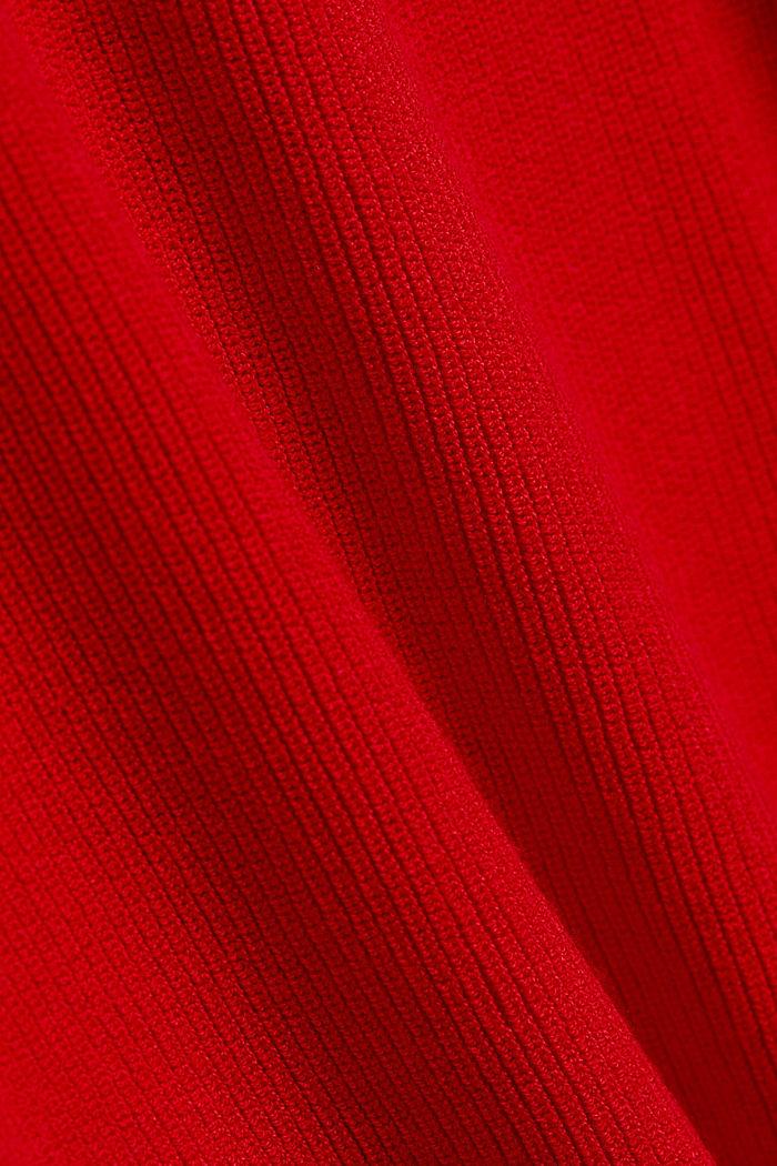 Žensky stylizovaný pulovr, LENZING™ ECOVERO™, RED, detail image number 4