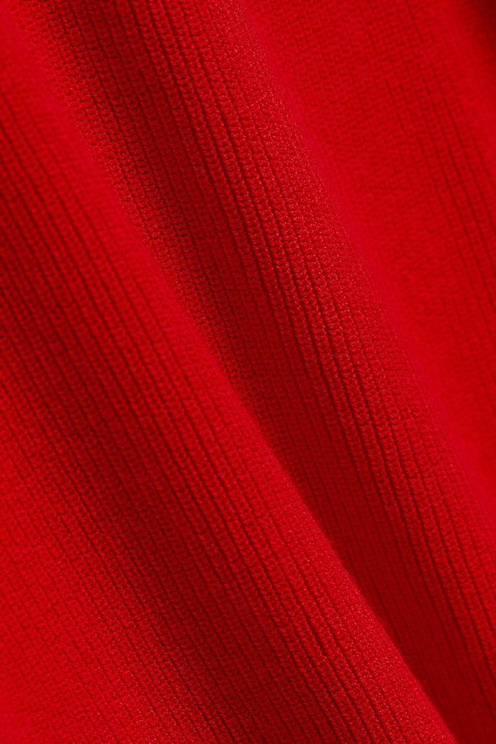Feminine jumper made of LENZING™ ECOVERO™, RED, detail image number 4