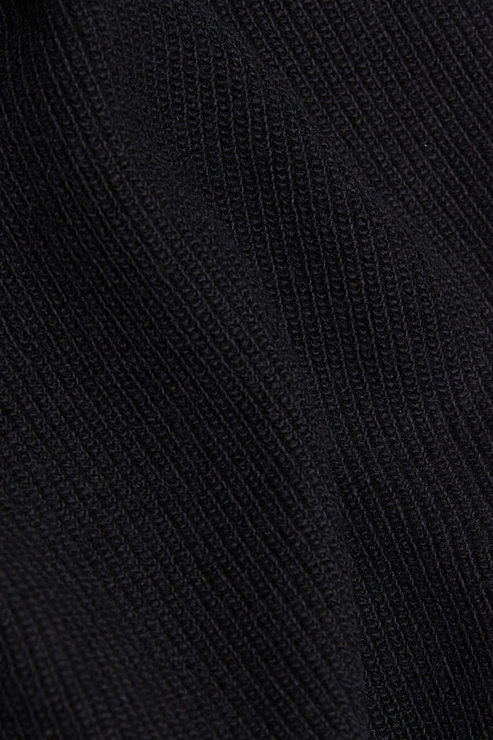 With cashmere: cardigan with large buttons, BLACK, detail image number 4
