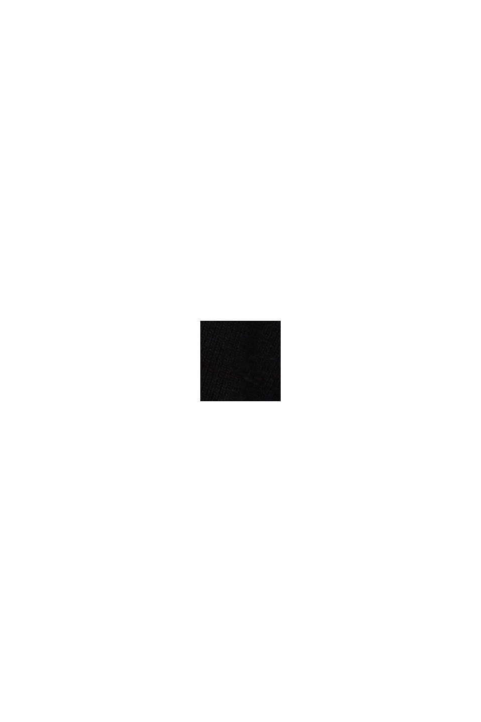 Con cashmere: cardigan con bottoni grandi, BLACK, swatch