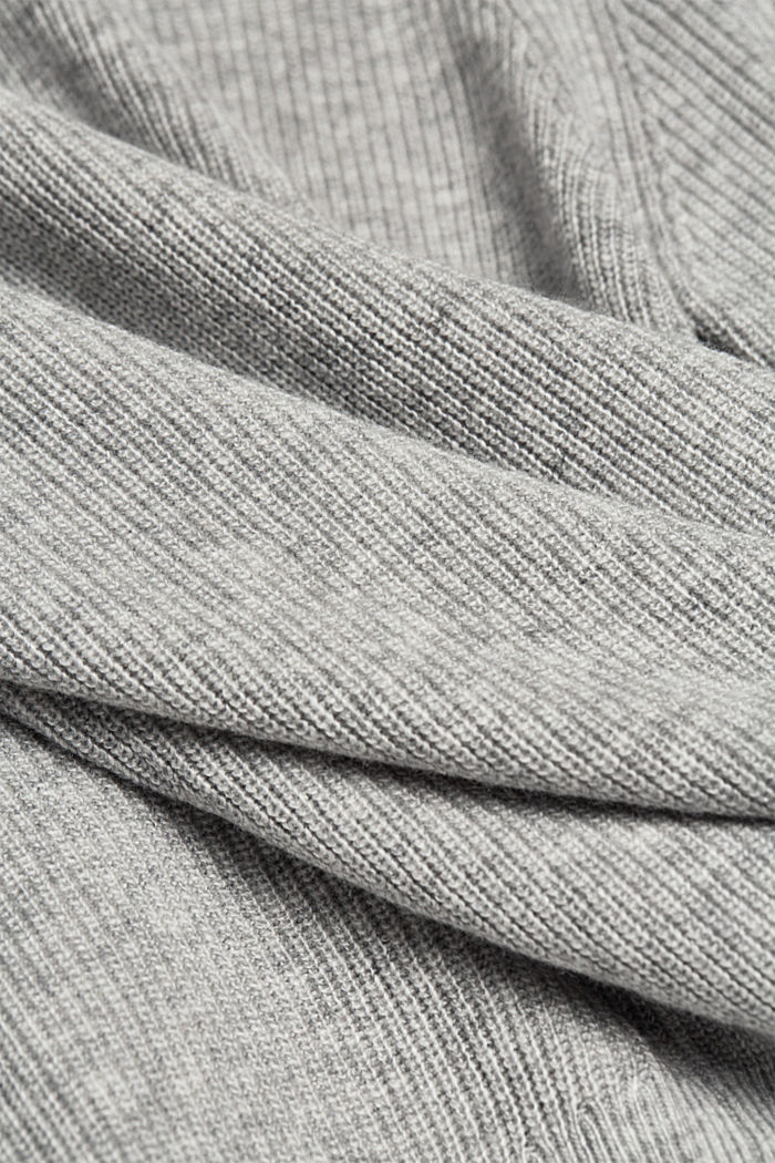With cashmere: cardigan with large buttons, LIGHT GREY, detail image number 4