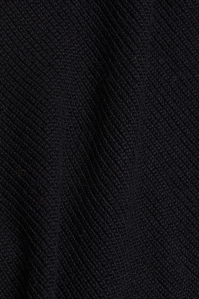 With cashmere: jumper with button details, BLACK, detail image number 4