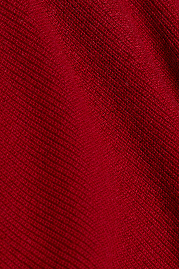With cashmere: jumper with button details, DARK RED, detail image number 4