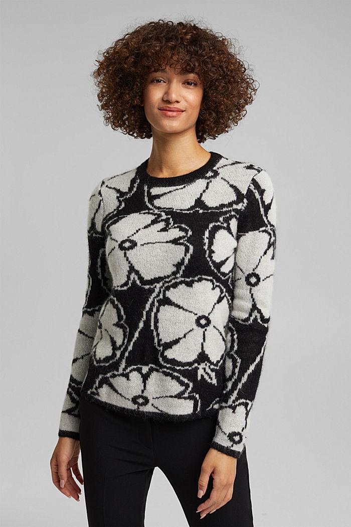 Alpaca/wool blend: jacquard jumper, OFF WHITE, detail image number 0