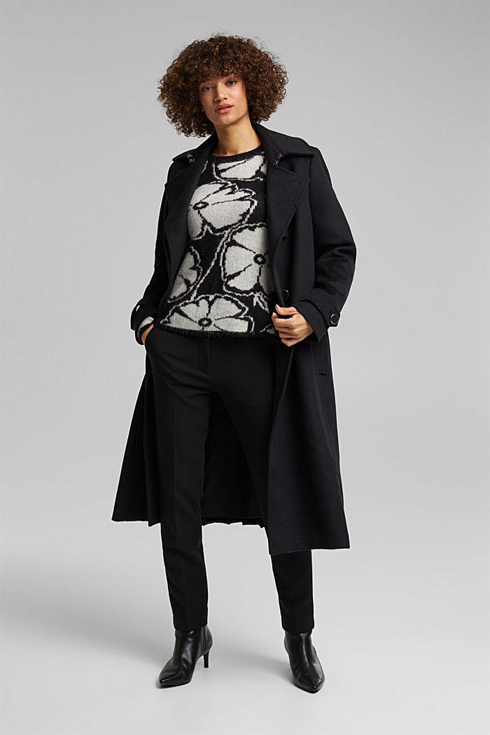 Alpaca/wool blend: jacquard jumper, OFF WHITE, detail image number 1