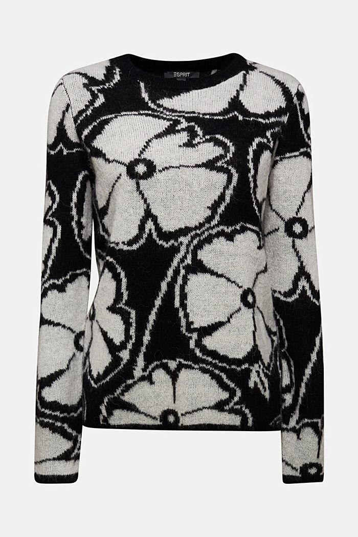Alpaca/wool blend: jacquard jumper, OFF WHITE, detail image number 6