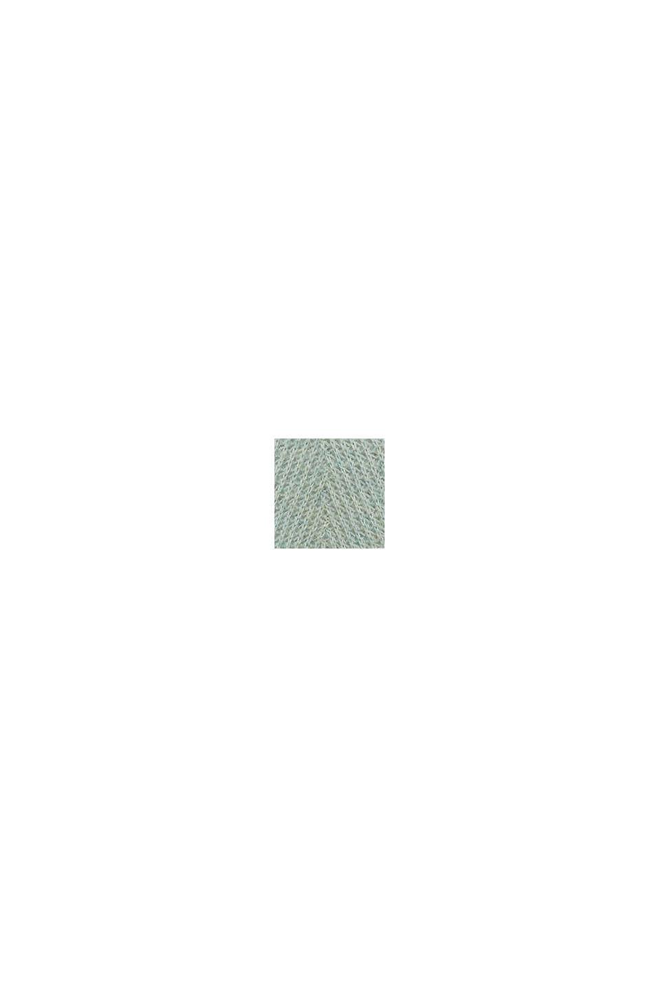 In misto lana: pullover strutturato, PASTEL GREEN, swatch
