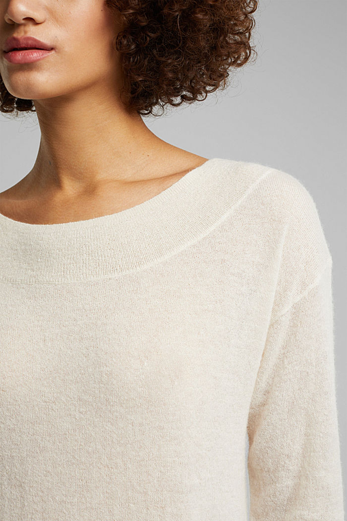 Jumper in an alpaca/wool blend, OFF WHITE, detail image number 2