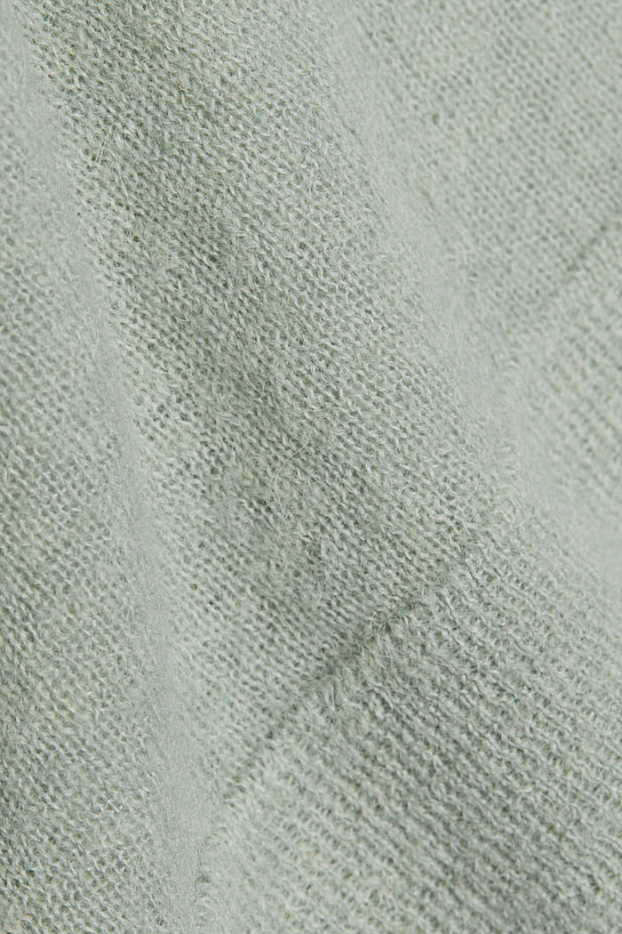 Jumper in an alpaca/wool blend, PASTEL GREEN, detail image number 4