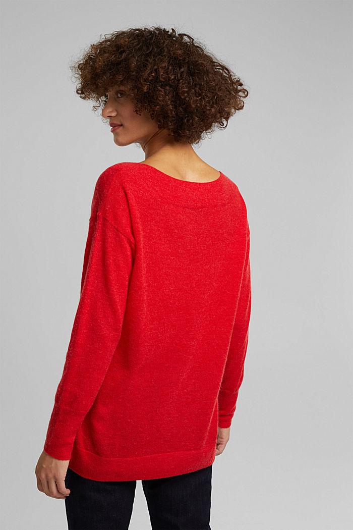 Jumper in an alpaca/wool blend, RED, detail image number 3