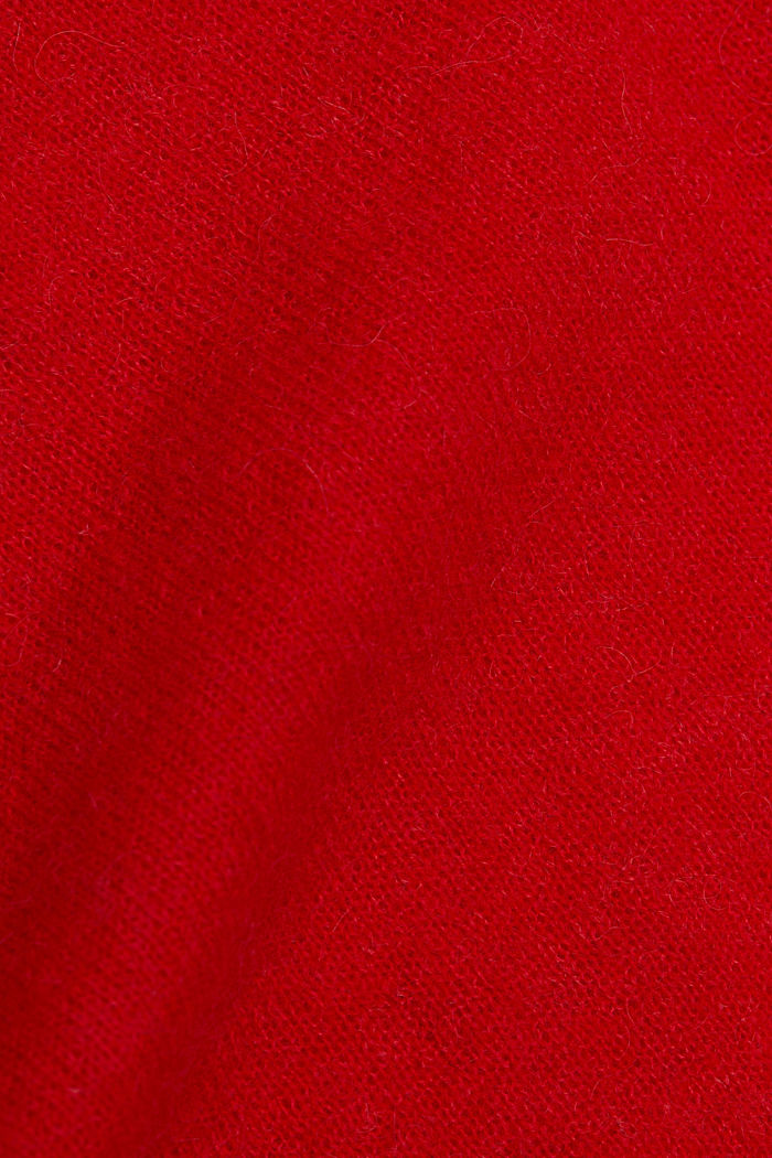 Jumper in an alpaca/wool blend, RED, detail image number 4