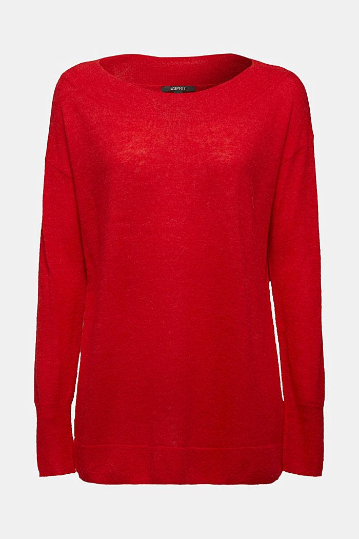 Jumper in an alpaca/wool blend, RED, detail image number 5