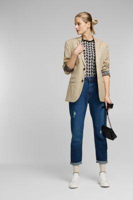 Short sleeve jumper with LENZING™ ECOVERO™, BLACK 3, detail