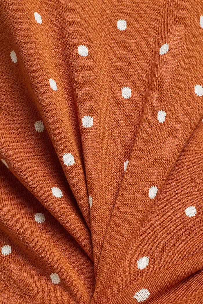 Jumper made of LENZING™ ECOVERO™, RUST BROWN, detail image number 4