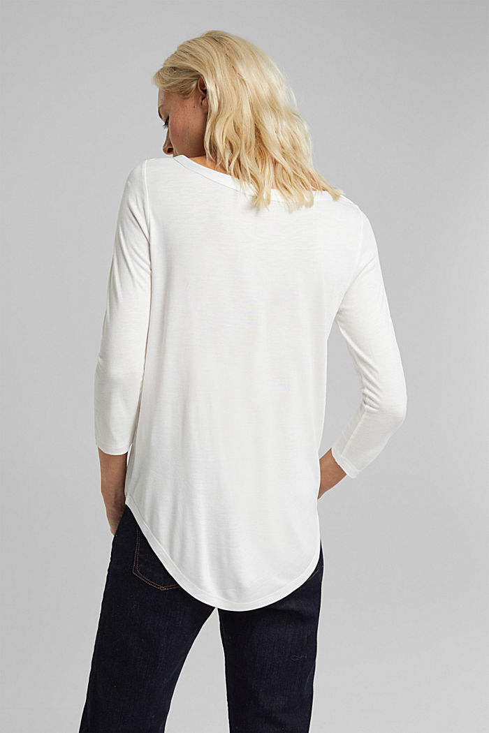 Long sleeve top made of LENZING™ ECOVERO™, OFF WHITE, detail image number 3