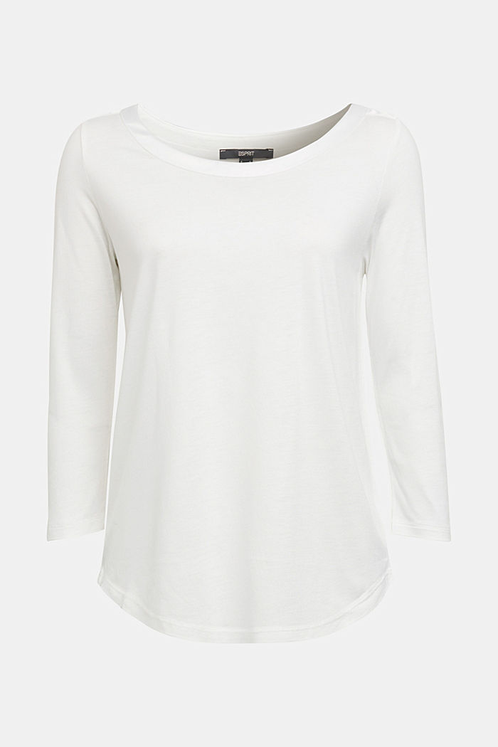 Long sleeve top made of LENZING™ ECOVERO™, OFF WHITE, detail image number 6