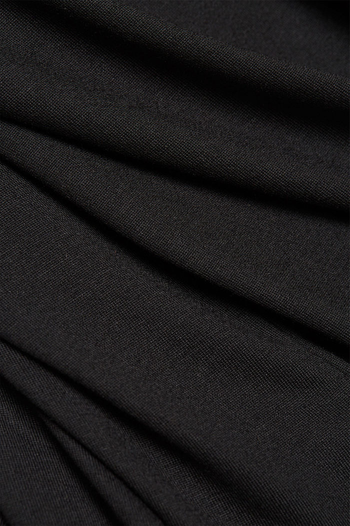 Recycled: long sleeve lyocell blend top, BLACK, detail image number 4