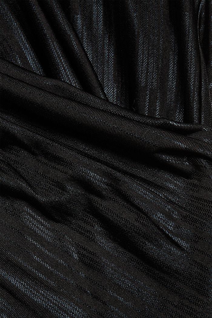 Metallic print T-shirt, BLACK, detail image number 4